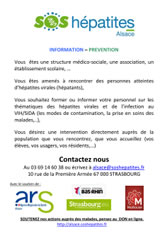Information Prevention SOS hépatites Alsace
